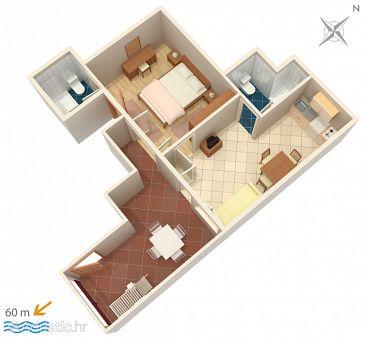 Apartment A-2756-d - Apartments Baška Voda (Makarska) - 2756