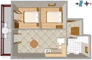 Apartment A-2762-a - Apartments Lokva Rogoznica (Omiš) - 2762
