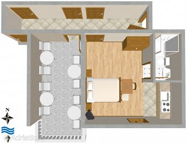 Studio flat AS-2768-a - Apartments and Rooms Duće (Omiš) - 2768