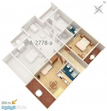 Apartment A-2778-b - Apartments Duće (Omiš) - 2778