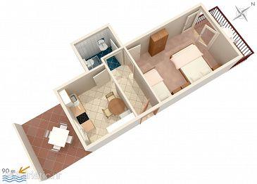 Apartment A-2783-a - Apartments Podaca (Makarska) - 2783