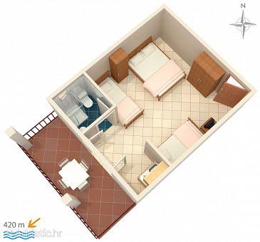 Studio flat AS-2784-b - Apartments and Rooms Gradac (Makarska) - 2784