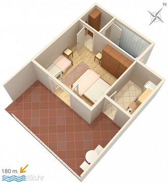 Apartment A-2786-b - Apartments Omiš (Omiš) - 2786