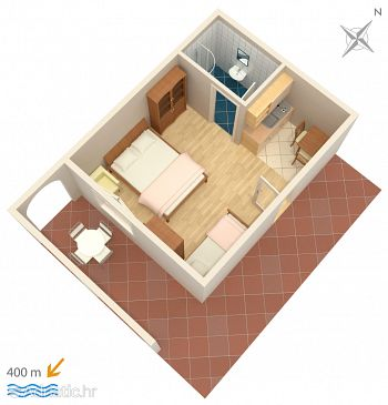 Studio flat AS-2801-a - Apartments Duće (Omiš) - 2801