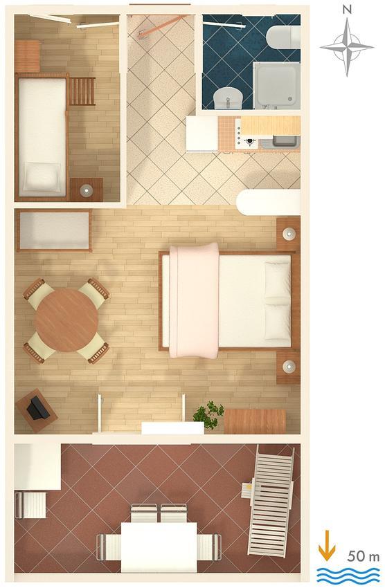 Apartmány s parkoviskom v meste Sumpetar - 2808