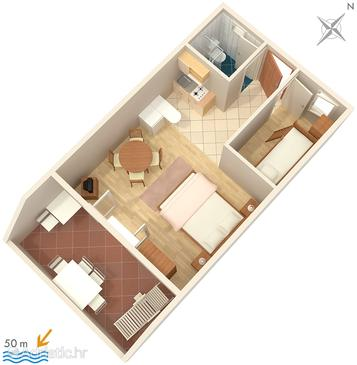 Apartment A-2808-b - Apartments Sumpetar (Omiš) - 2808