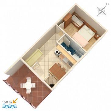 Apartament A-2812-a - Apartamenty Duće (Omiš) - 2812