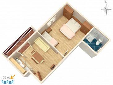 Apartament A-2821-c - Apartamenty Duće (Omiš) - 2821