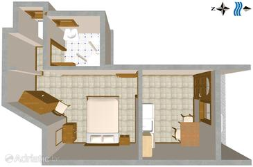 Studio flat AS-2830-b - Apartments Duće (Omiš) - 2830