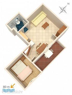 Apartment A-2831-b - Apartments Lokva Rogoznica (Omiš) - 2831