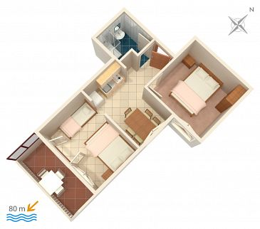 Apartament A-2831-c - Apartamenty Lokva Rogoznica (Omiš) - 2831