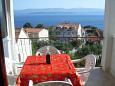 Bol, Terrace u smještaju tipa apartment, s pogledom na more, dopusteni kucni ljubimci i WIFI.