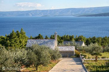 Property Bol (Brač) - Accommodation 2894 - Vacation Rentals with pebble beach.