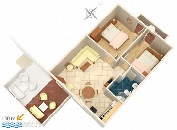 Apartment A-2895-c - Apartments Rogoznica (Rogoznica) - 2895