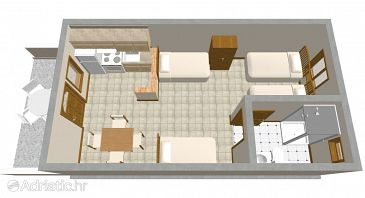 Studio flat AS-291-a - Apartments Vir (Vir) - 291