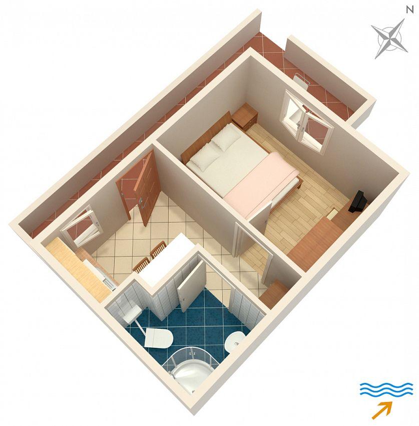 Apartmány s parkoviskom v meste Postira - 2913