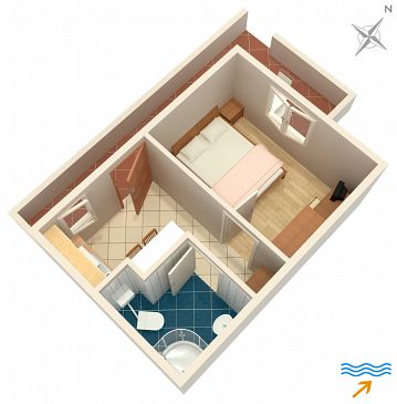 Apartament A-2913-a - Apartamenty Postira (Brač) - 2913