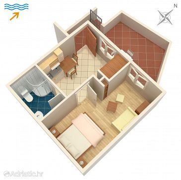 Apartment A-2913-b - Apartments Postira (Brač) - 2913
