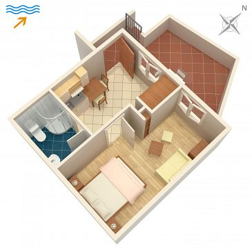 Apartament A-2913-b - Apartamenty Postira (Brač) - 2913