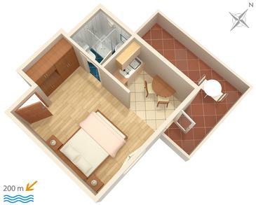 Studio flat AS-2921-a - Apartments Bol (Brač) - 2921