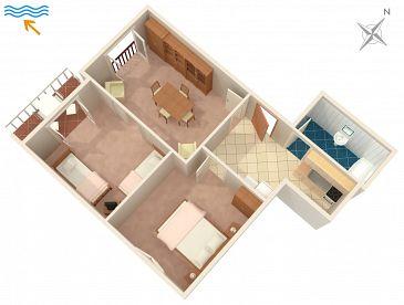 Apartament A-2954-a - Apartamenty Povlja (Brač) - 2954