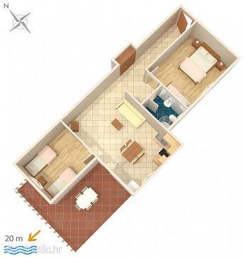 Ražanj, Plan u smještaju tipa apartment, WIFI.