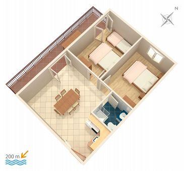 Apartament A-2987-a - Apartamenty Vinišće (Trogir) - 2987