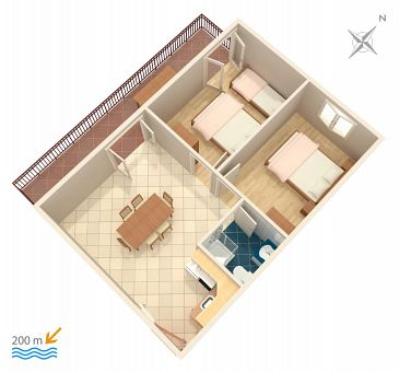 Apartment A-2987-a - Apartments Vinišće (Trogir) - 2987