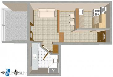 Studio flat AS-3001-c - Apartments Split (Split) - 3001