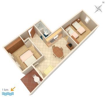 Apartment A-3012-e - Apartments and Rooms Premantura (Medulin) - 3012