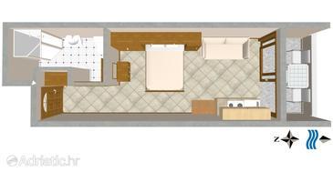 Studio flat AS-3061-c - Apartments Nemira (Omiš) - 3061