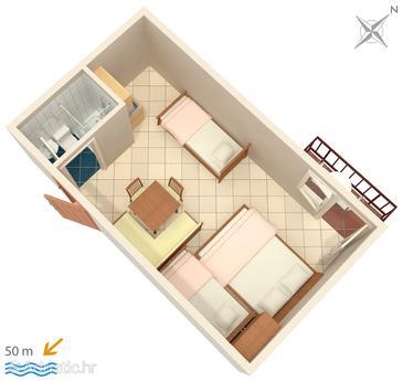 Studio flat AS-3063-a - Apartments and Rooms Duće (Omiš) - 3063