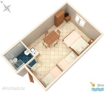 Studio flat AS-3063-f - Apartments and Rooms Duće (Omiš) - 3063