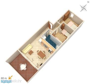 Apartment A-3066-g - Apartments Milna (Brač) - 3066