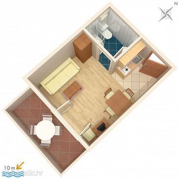 Studio flat AS-3073-c - Apartments and Rooms Vinišće (Trogir) - 3073