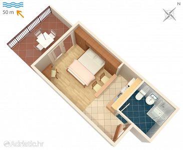 Studio flat AS-3074-f - Apartments and Rooms Milna (Hvar) - 3074