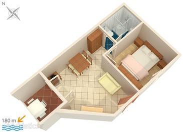 Studio flat AS-3075-a - Apartments Potočnica (Pag) - 3075