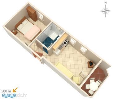 Apartment A-3083-a - Apartments Stara Novalja (Pag) - 3083