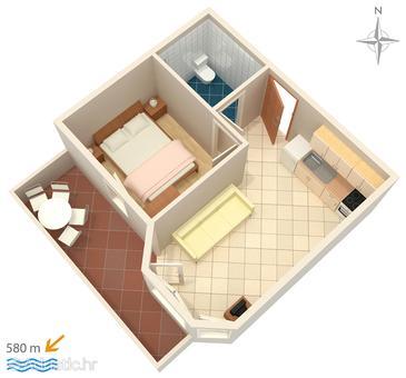 Apartment A-3083-i - Apartments Stara Novalja (Pag) - 3083