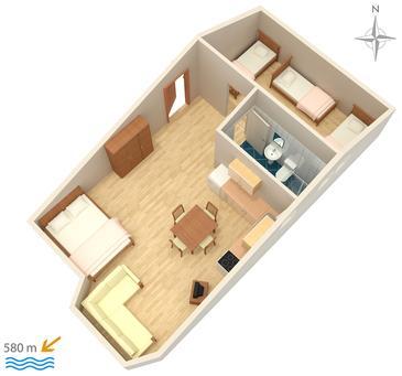 Studio flat AS-3083-a - Apartments Stara Novalja (Pag) - 3083