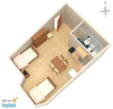 Studio flat AS-3083-b - Apartments Stara Novalja (Pag) - 3083