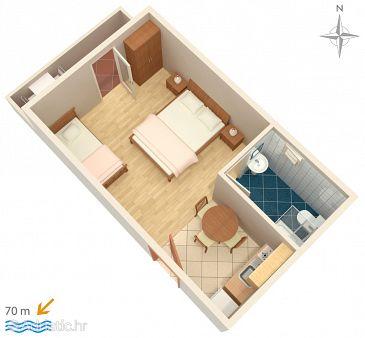 Studio flat AS-3084-c - Apartments Mandre (Pag) - 3084