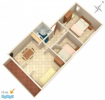 Apartament A-3092-a - Apartamenty Brodarica (Šibenik) - 3092