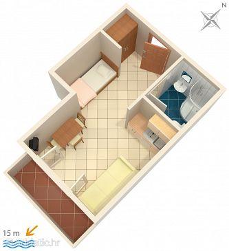 Studio flat AS-3092-a - Apartments Brodarica (Šibenik) - 3092