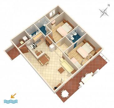 Apartment A-312-c - Apartments Podaca (Makarska) - 312