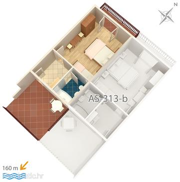 Studio flat AS-313-a - Apartments Podaca (Makarska) - 313