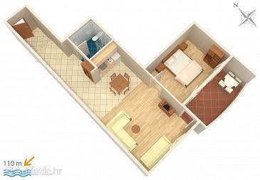 Apartment A-3162-a - Apartments Trpanj (Pelješac) - 3162
