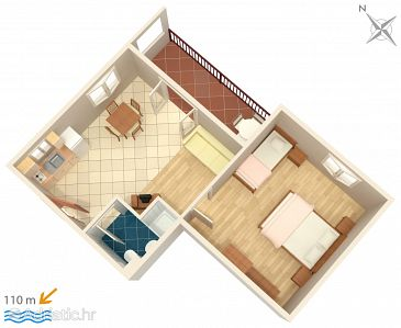 Apartment A-3162-f - Apartments Trpanj (Pelješac) - 3162
