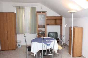 Slano, Dining room u smještaju tipa studio-apartment, dopusteni kucni ljubimci i WIFI.
