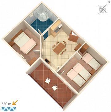 Apartament A-3190-c - Apartamenty Duće (Omiš) - 3190